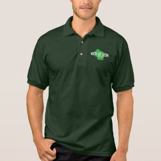 Green jersey polo