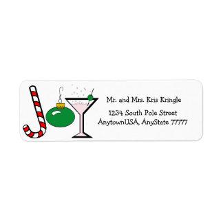 Green Joy Of Christmas Return Address Label