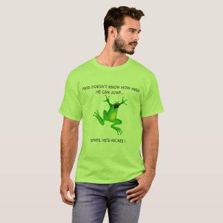 Green jumping frog cartoon tshirt funny