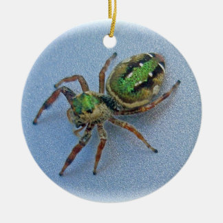 Green Jumping Spider Christmas Ornament