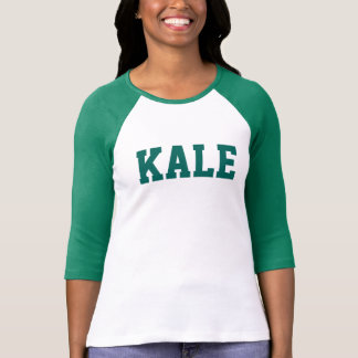 Green KALE University Bella 3/4i Sleeve Raglan Tee