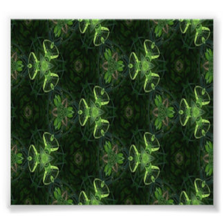 Green Kaleidoscope 1 Photo Print