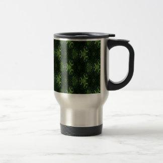 Green Kaleidoscope 1 Travel Mug