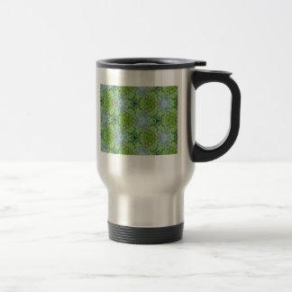 Green Kaleidoscope 2 Travel Mug