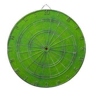 Green Kaleidoscope Graphic Design Dartboard With Darts