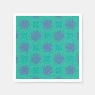 Green Kaleidoscope Paper Napkin