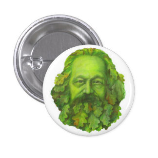 Green Karl Marx badge 1 Inch Round Button