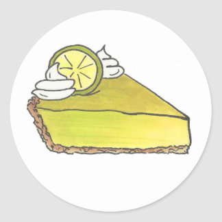 Green Key Lime Keylime Pie Slice Dessert Stickers