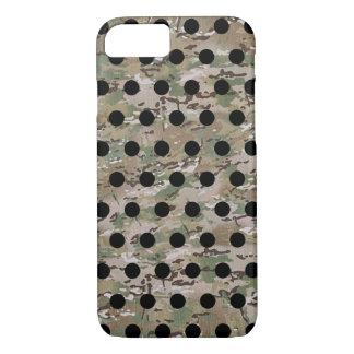 Green Khaki Brown Camo Black Polka Dot iPhone 8/7 Case