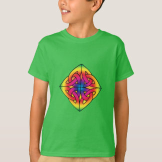 Green Kid's Celtic Diamond Knot Shirt