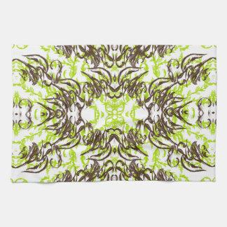 green kitchen towel