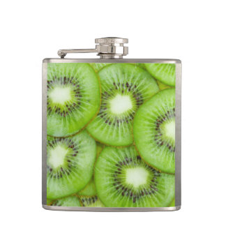 Green Kiwi Fruit Hip Flask