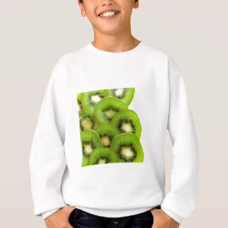 Green Kiwi Fruit Slices  - Fruit Print Sweatshirt