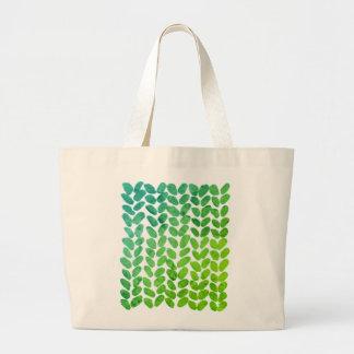 Green knitting bag