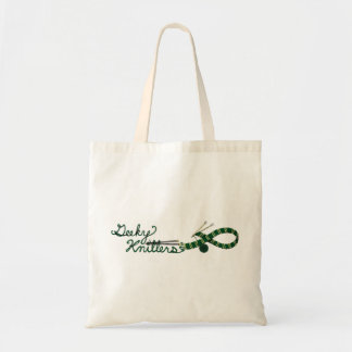 Green Knitting Tote Geeky Knitter Scarf Design Budget Tote Bag