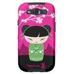Green Kokeshi - happiness Samsung Galaxy SIII Cases