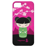Green Kokeshi - happiness iPhone 5 Covers