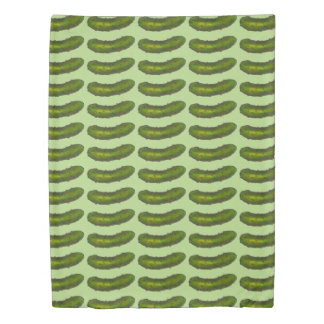 Green Kosher Dill Pickle Pickles Food Duvet Cover