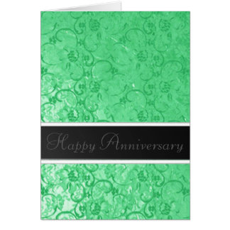Green Lace Anniversary Greeting Card