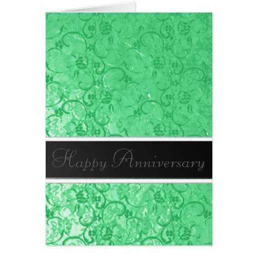 Green Lace Anniversary Cards