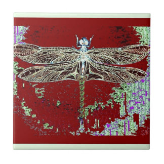 Green Lace Wing Dragonfly By Sharles Tile