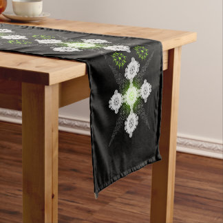 Green Lacy Celtic Crop Circle Short Table Runner