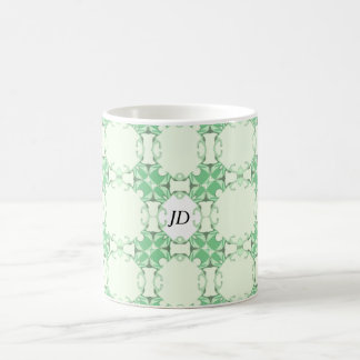 Green Lacy Lines Kaleidoscope Coffee Mug