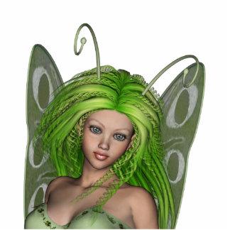 Green Lady Fairy 1 - 3D Fantasy Art - Standing Photo Sculpture