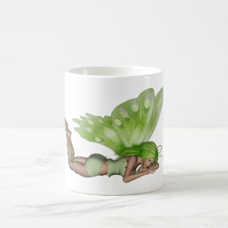 Green Lady Fairy 3 - 3D Fantasy Art - Coffee Mug