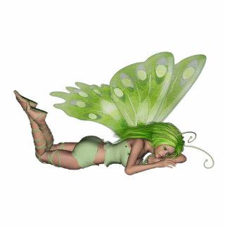 Green Lady Fairy 3 - 3D Fantasy Art - Standing Photo Sculpture