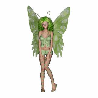 Green Lady Fairy 4 - 3D Fantasy Art - Standing Photo Sculpture