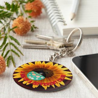 Green Ladybug Keychain