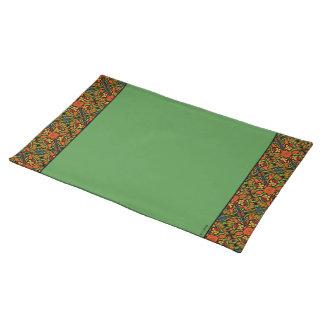 Green Ladybug Trim Pattern Placemat