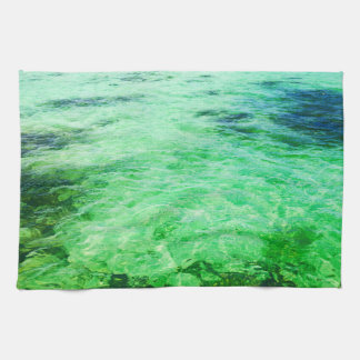 Green lagoon kitchen towel