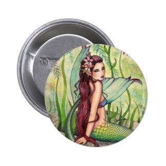 Green Lagoon Mermaid Button, Pin by Molly Harrison