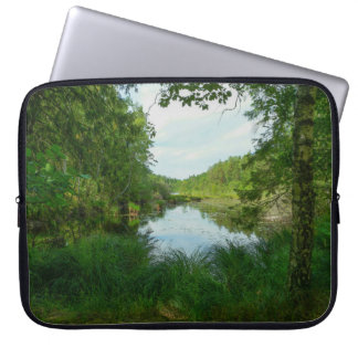 Green lake computer sleeve