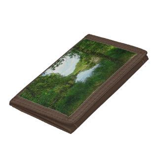 Green lake tri-fold wallet