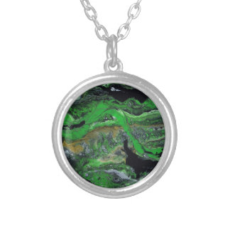 Green Lands Silver Plated Necklace