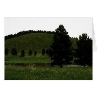 GREEN Landscape Card