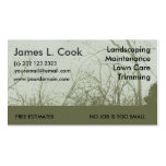 Green Landscaping Lawn Care Mowing Business Card Template