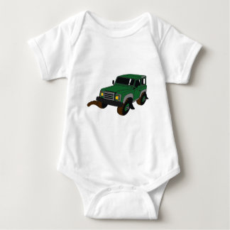 Green Landy Baby Bodysuit