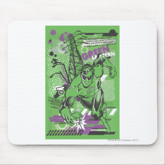 Green Lantern - Absurd Collage Poster Mouse Pad