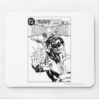 Green Lantern - Action Comic Cover, Black and Whit Mousepads
