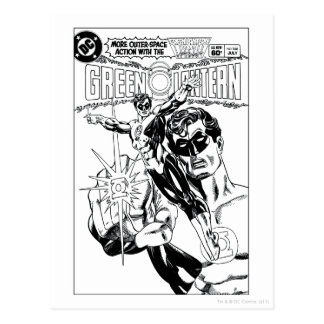 Green Lantern - Action Comic Cover, Black and Whit Postcards