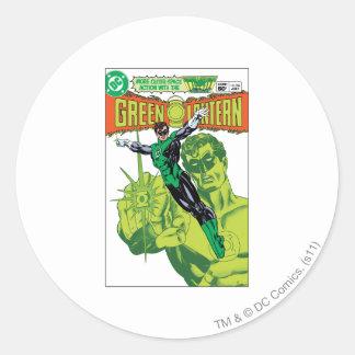 Green Lantern - Action Comic Cover Round Sticker