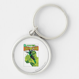 Green Lantern - Action Comic Cover Silver-Colored Round Keychain