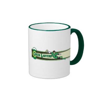 Green Lantern and Logo Ringer Coffee Mug