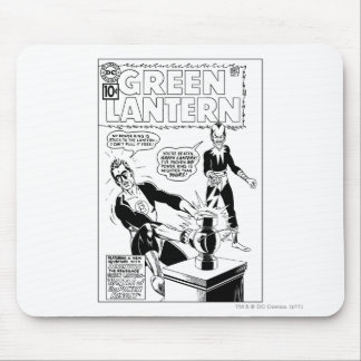 Green Lantern and Sinestro Cover, Black and White Mouse Pad