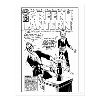 Green Lantern and Sinestro Cover, Black and White Postcards