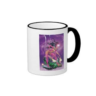 Green Lantern and Star Sapphire - Color Ringer Coffee Mug